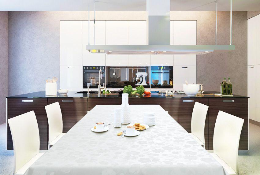 Moderne Kücheneinrichtungsstile und altbewährte abwaschbare Tischdecken sind heute kein Widerspruch mehr - dank zeitgemäßer Tischdeckenmuster