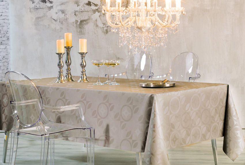 Klassische Eleganz trifft auf unaufdringliche Perfektion - moderne Tischdecken und Deko-Elemente können perfekt zu einer Einheit ergänzt werden