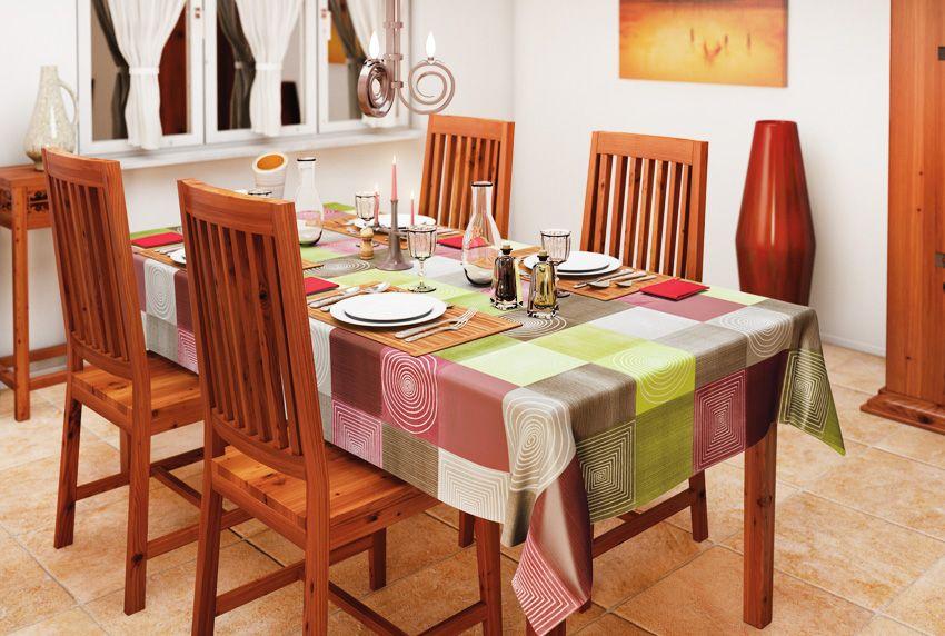 Praktische abwaschbare Tischdecken im geometrischen Mustermix für große Tische