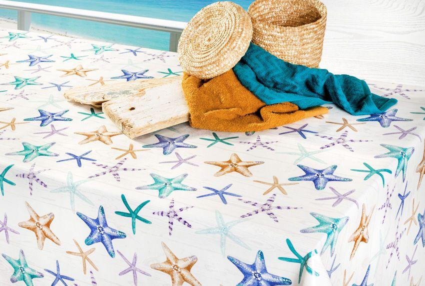 Den Urlaub nach Hause holen - Ostsee-Tischdecke mit maritimen Seestern-Motiven