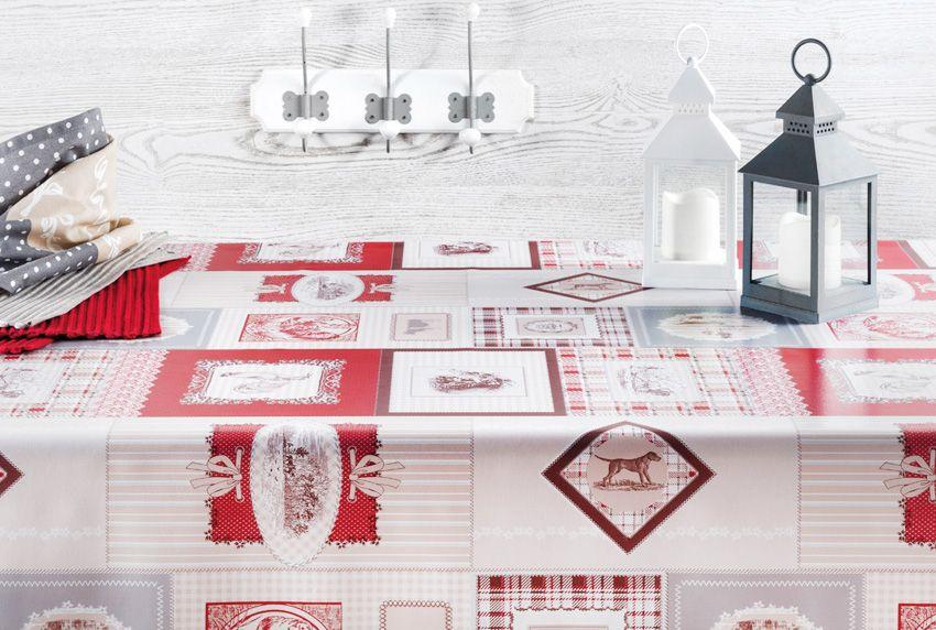 Wohnliches und farblich abgestimmtes Retro-Design auf abwaschbaren Tischdecken