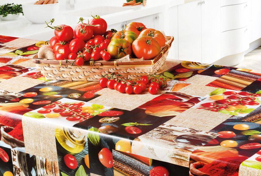 Fruchtmuster auf dem Tisch - Jetzt wird es bunt - als Meterware oder passgenaue Tischdecke