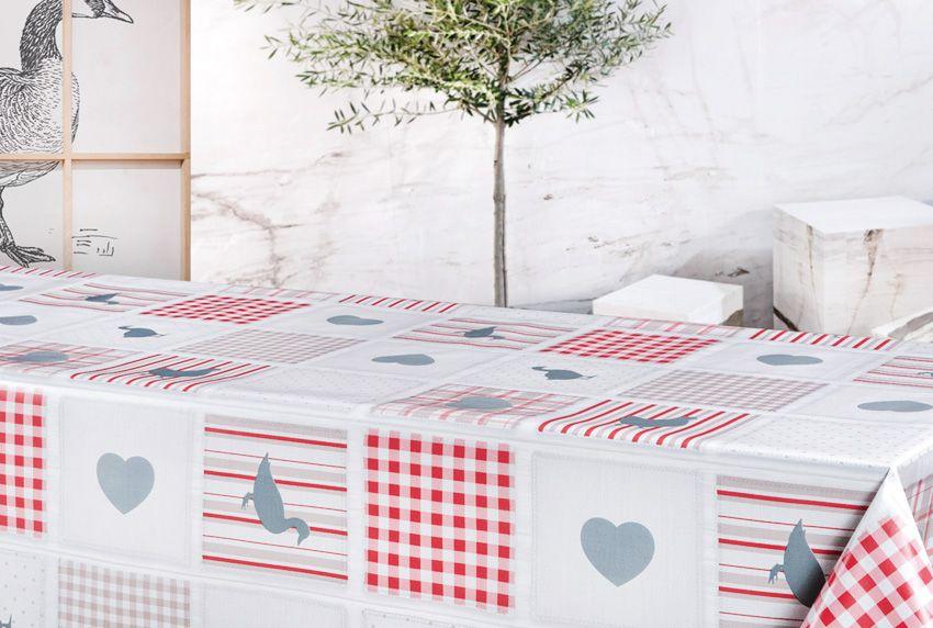 Unendliche Kombinationsmöglichkeiten von Motiven und Musterungen werden für Wachstuch-Tischbeläge genutzt