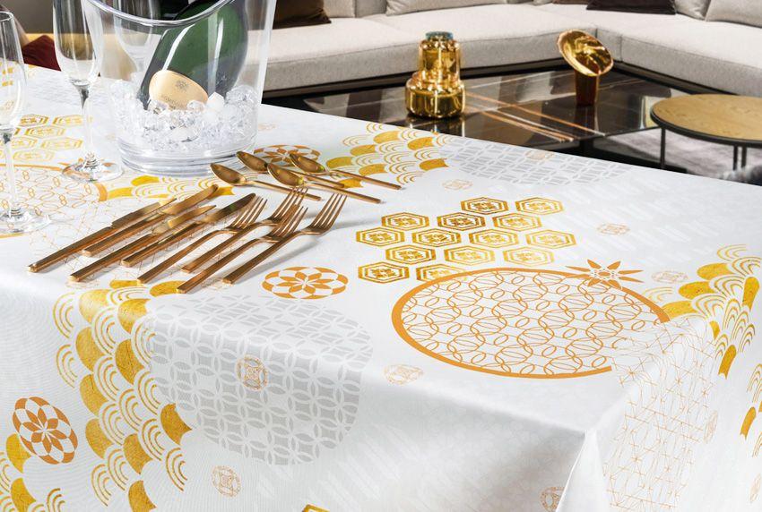 Goldene Zeiten - Abwaschbare Tischdecken für festliches Ambiente in hochwertiger Verarbeitung
