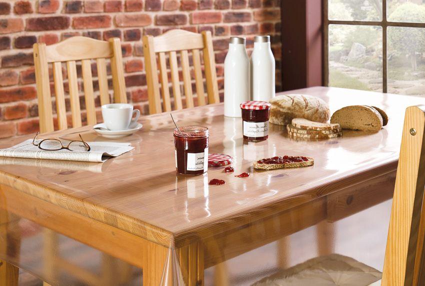 Hochwertige Tischfolien die den Blick auf besondere Tischoberflächen zulassen - aber auch halbtransparente Tischdecken sind erhältlich